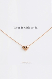 MALANDRA Jewelry Heart Necklace - Product Mini Image