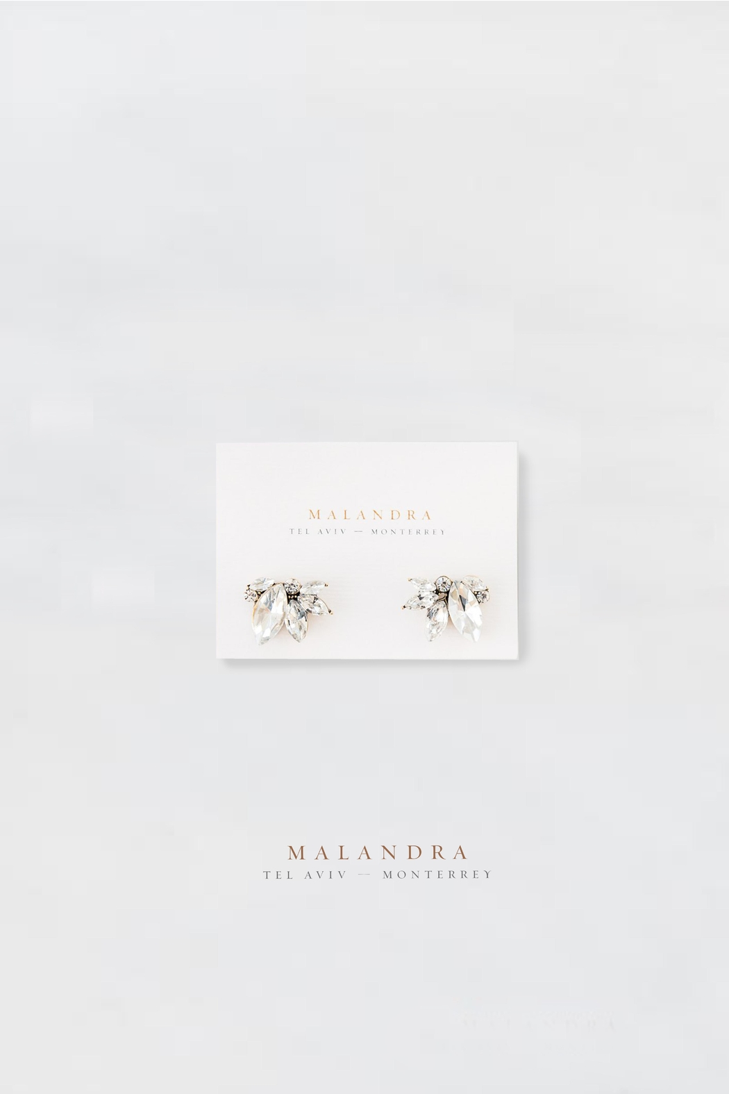 MALANDRA Jewelry Lila Crystal Earrings - Front Cropped Image
