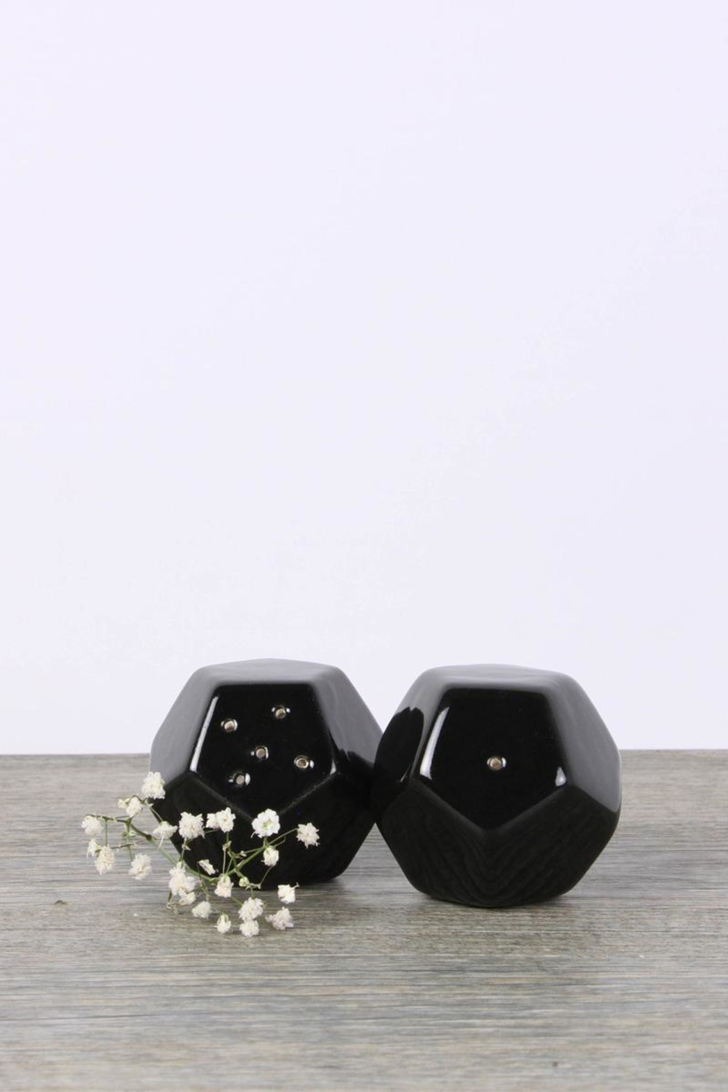 Malaquita Design Geometric Salt Pepper Shakers - Front Cropped Image