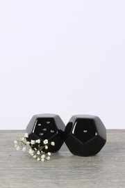 Malaquita Design Geometric Salt Pepper Shakers - Front cropped