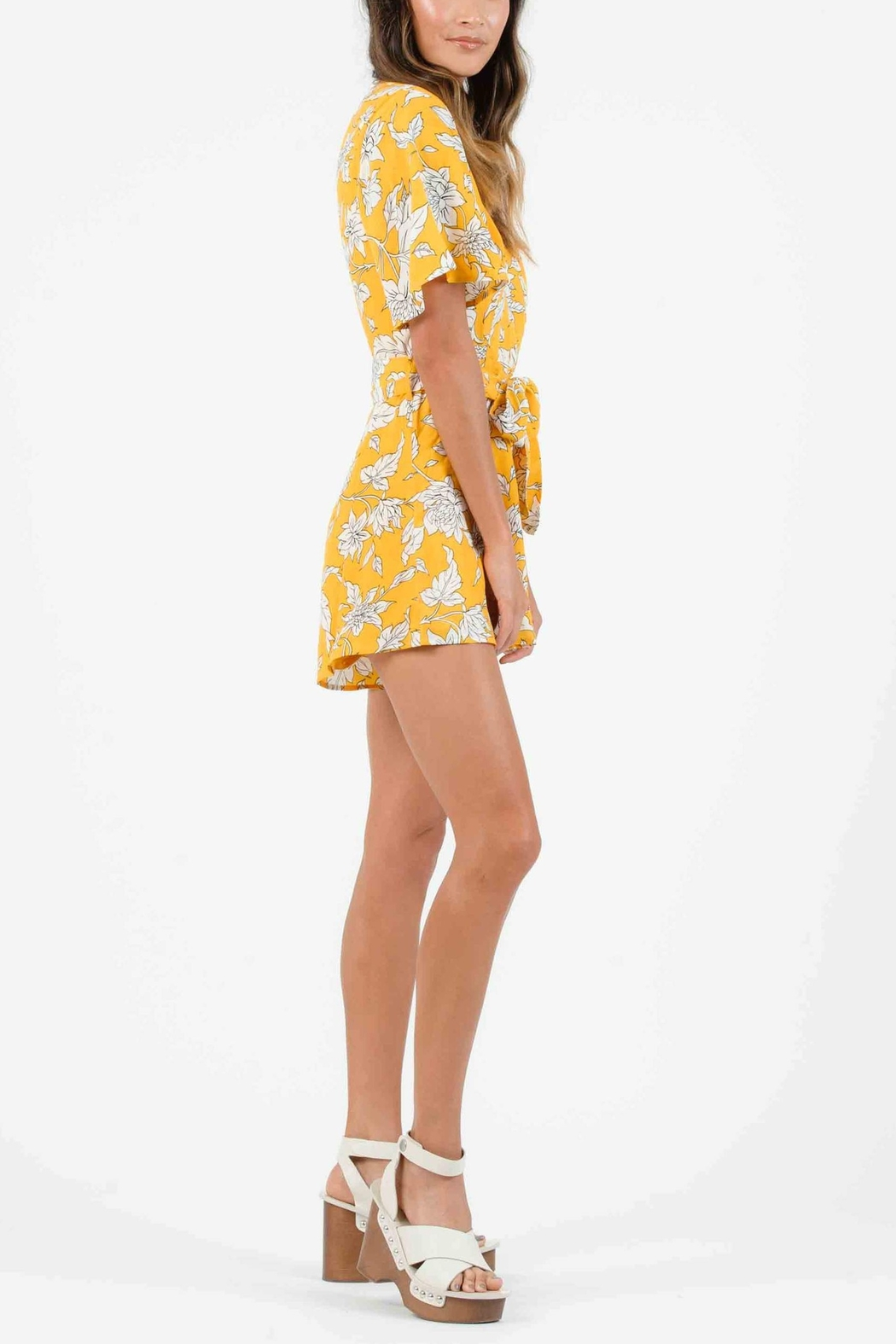 Lucca Malia Belted Romper - Front Full Image