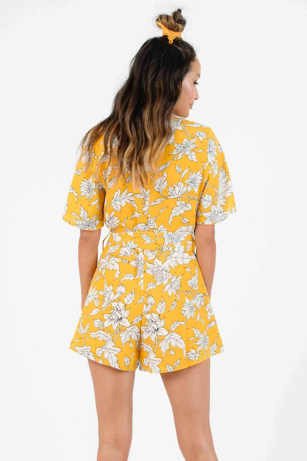 Lucca Malia Belted Romper - Side Cropped Image