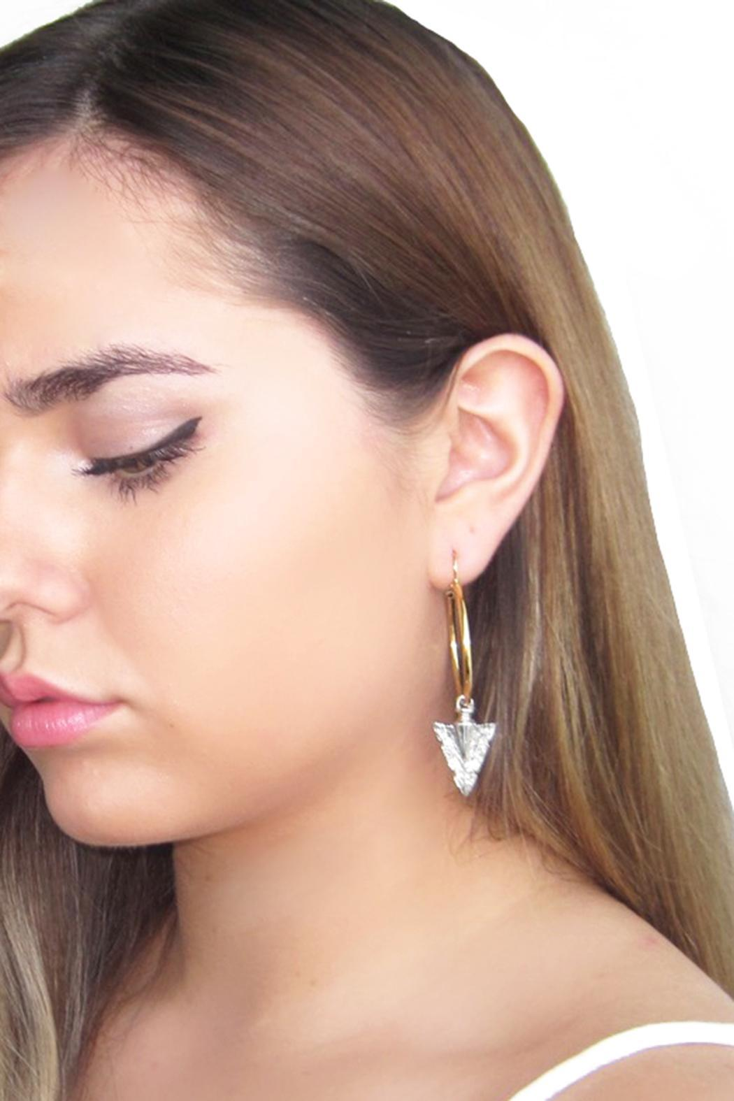 Malia Designs Silver Arrow Hoops - Side Cropped Image