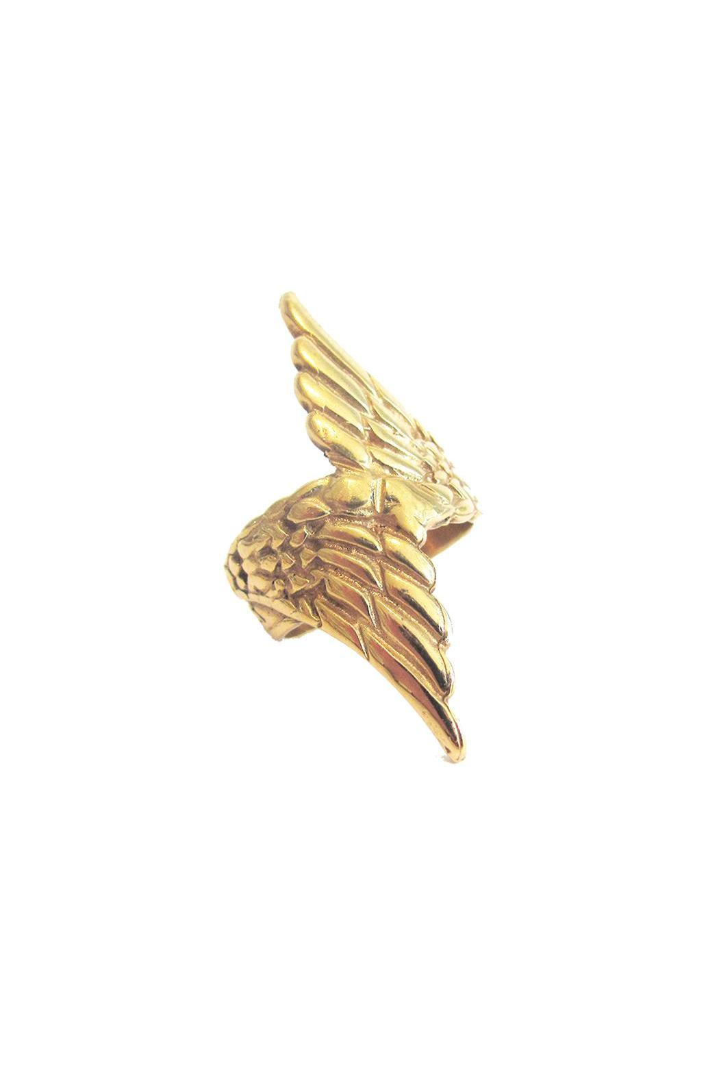 Malia Designs Wing Ring Gold - Front Cropped Image