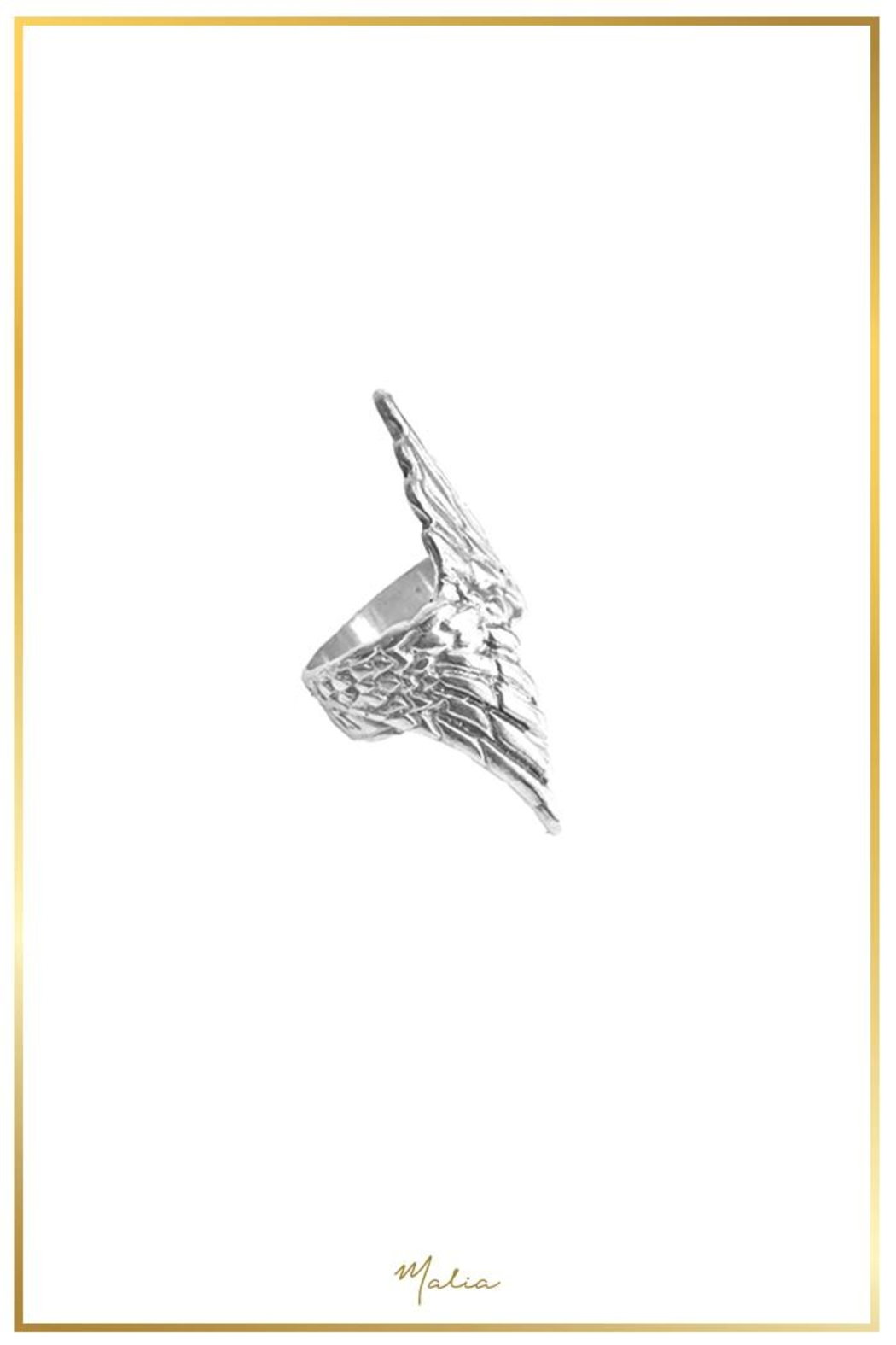 Malia Designs Wing Ring Silver - Front Full Image