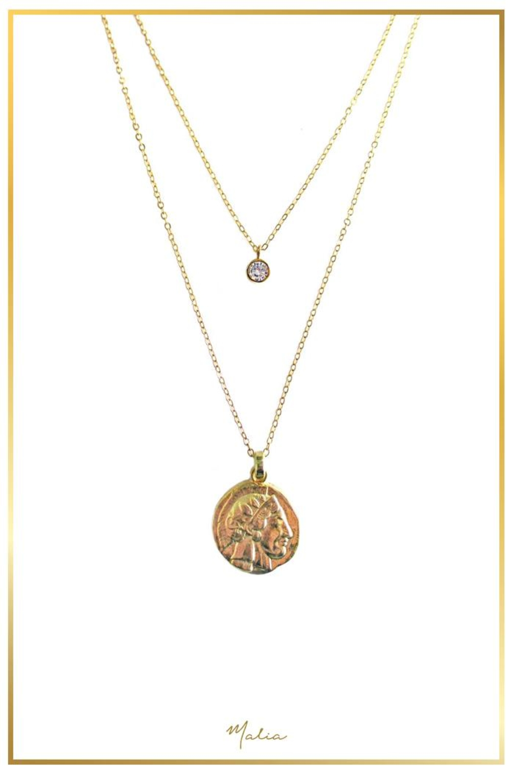 Malia Jewelry 2-Pack Golden Necklaces - Main Image