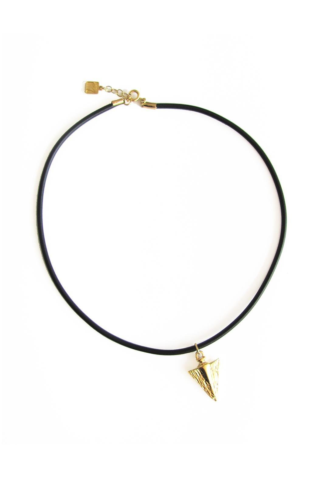 Malia Jewelry Arrow Black Choker - Main Image