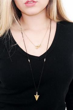Malia Jewelry Arrow Black Necklace - Alternate List Image