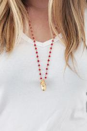 Malia Jewelry Beating-Heart Coral Necklace - Side cropped