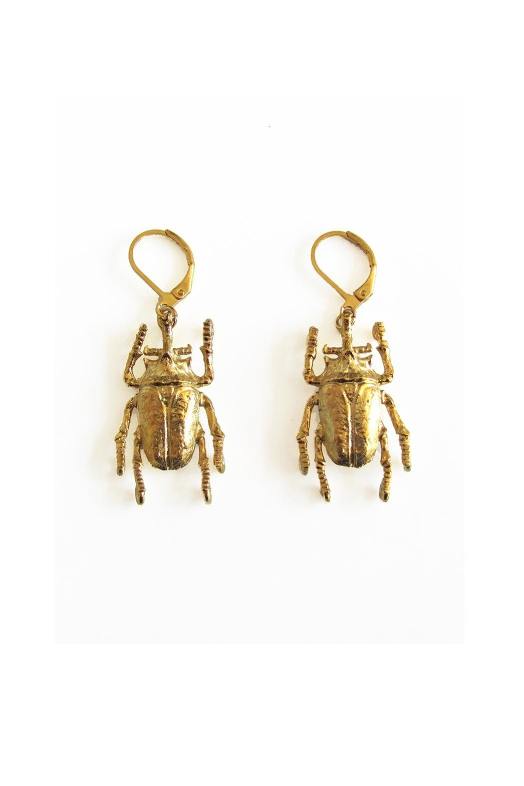 Malia Jewelry Beetle Earrings - Main Image