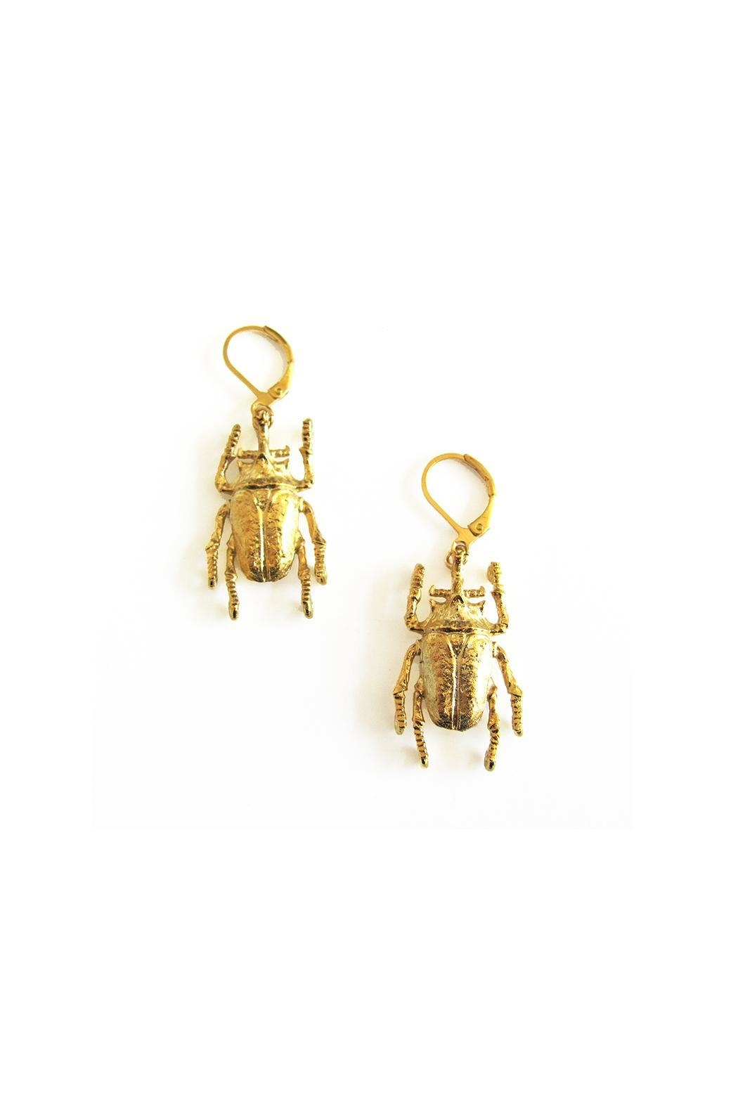 Malia Jewelry Beetle Earrings - Side Cropped Image