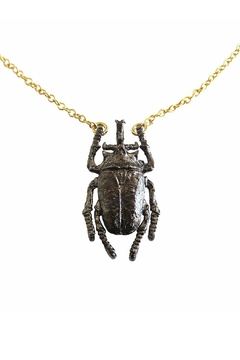 Malia Jewelry Black Beetle Necklace - Alternate List Image