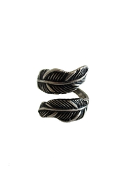 Malia Jewelry Black Double Leaf Ring - Product Mini Image