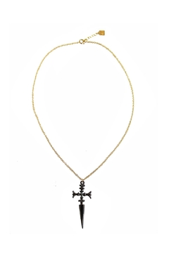 Malia Jewelry Black Sword Necklace - Product List Image