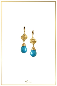 Malia Jewelry Blue-Agate Charm Earrings - Alternate List Image