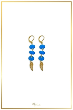 Malia Jewelry Blue-Agate Wing Earrings - Product List Image