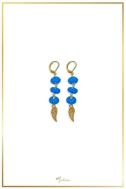 Malia Jewelry Blue-Agate Wing Earrings - Front cropped