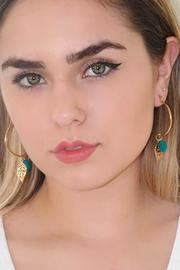 Malia Jewelry Blue Tropical Hoops - Side cropped