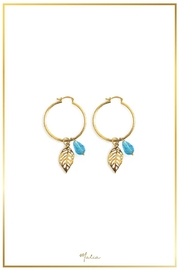 Malia Jewelry Blue Tropical Hoops - Front cropped