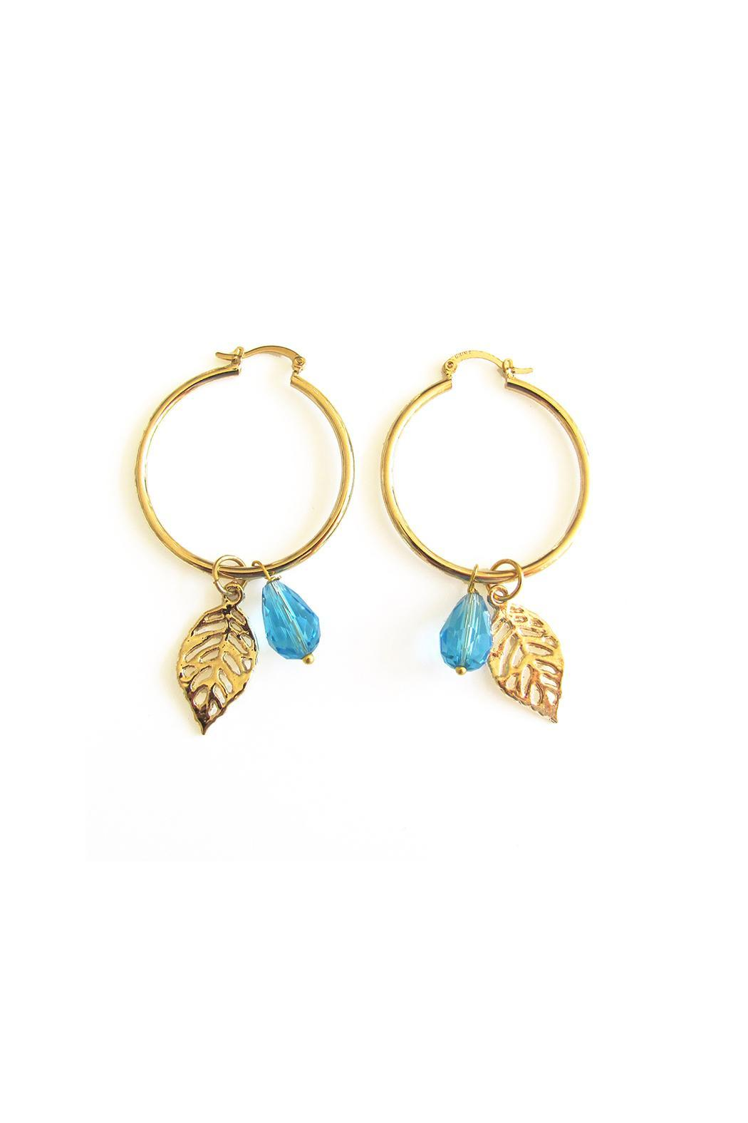 Malia Jewelry Blue Tropical Hoops - Front Cropped Image
