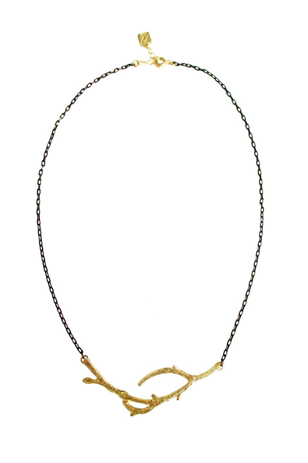 Malia Jewelry Branch Black Necklace - Front Cropped Image