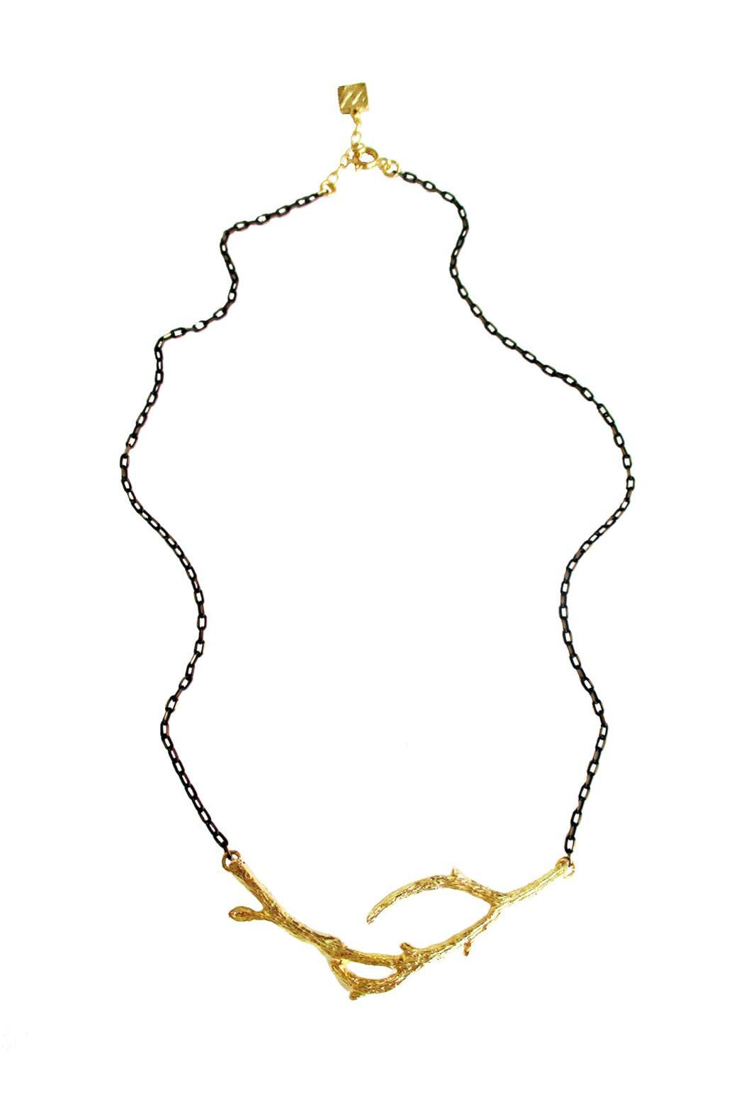 Malia Jewelry Branch Black Necklace - Front Full Image