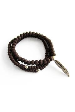 Shoptiques Product: Brown Leaf Bracelet