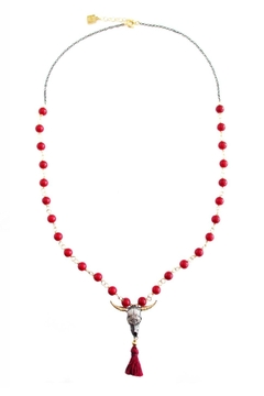 Shoptiques Product: Bull, Red-Tassle And Corals Necklace