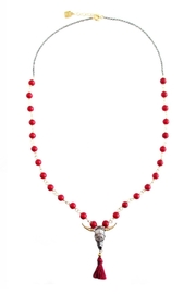 Malia Jewelry Bull, Red-Tassle And Corals Necklace - Front cropped