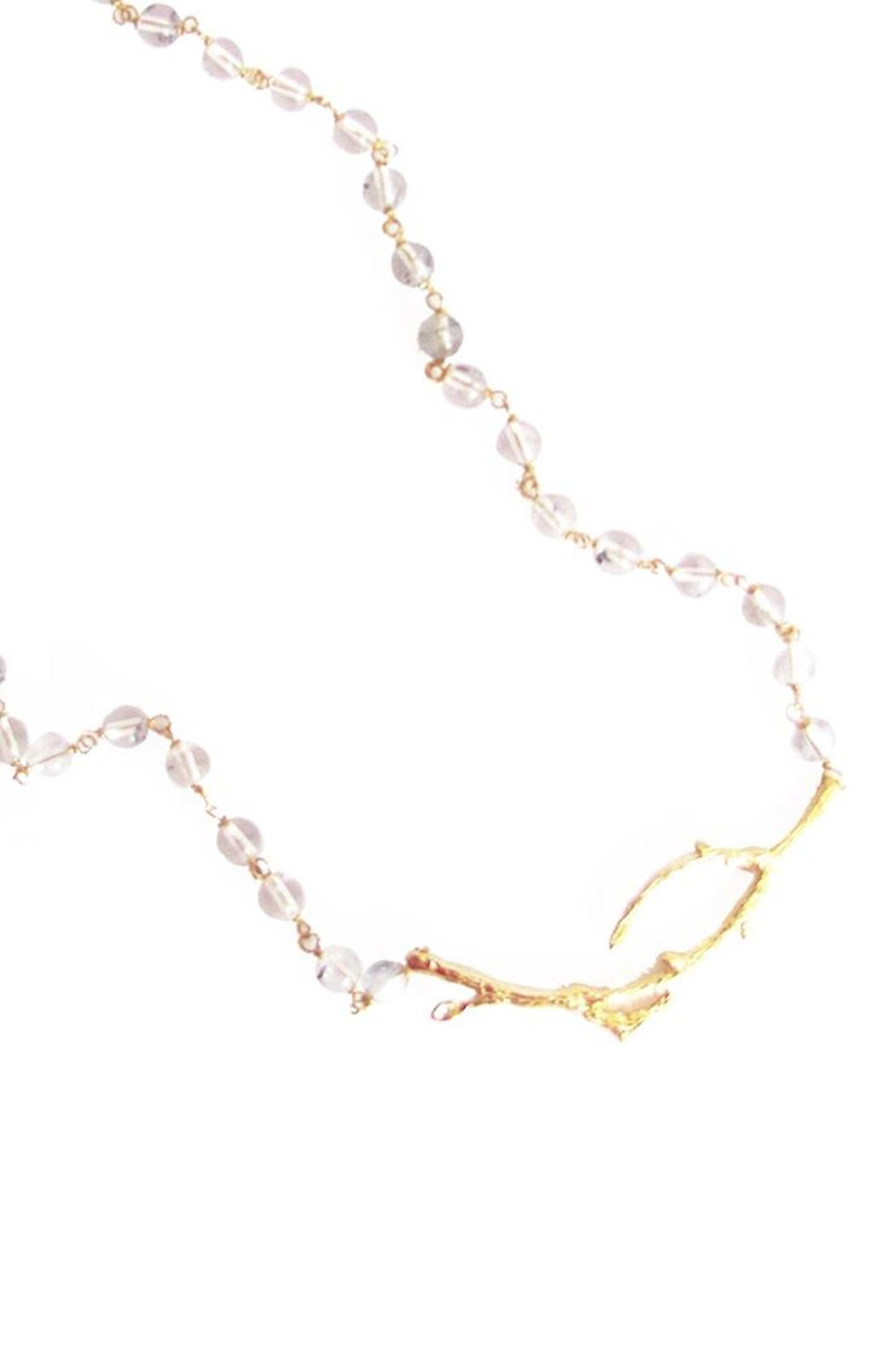 Malia Jewelry Clear-Quartz Branch Necklace - Front Full Image