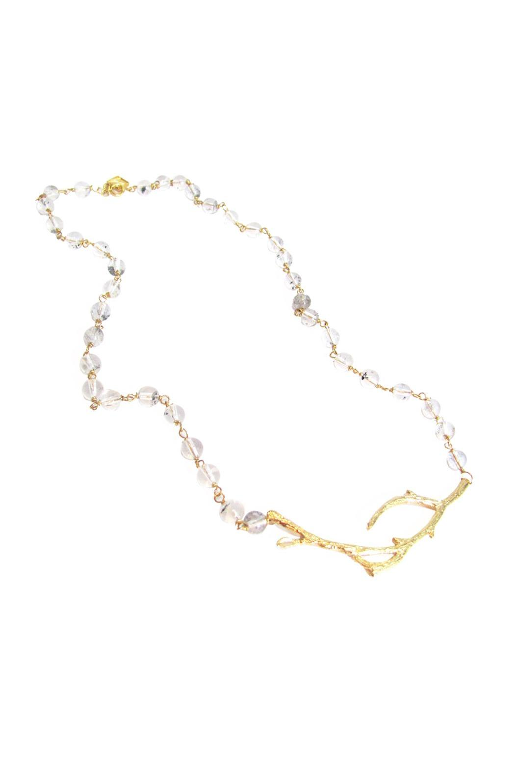 Malia Jewelry Clear-Quartz Branch Necklace - Main Image