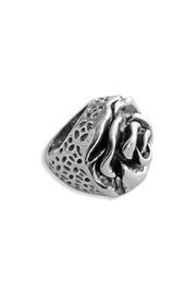 Malia Jewelry Cocktail Rose Ring - Front full body