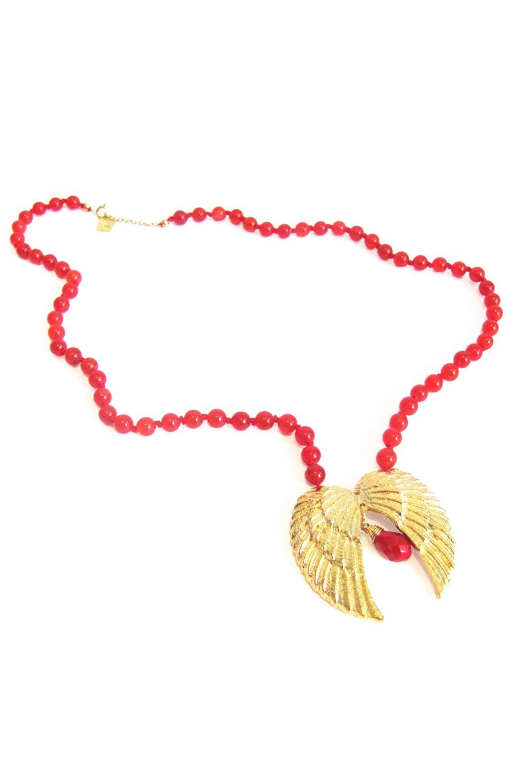 Malia Jewelry Double-Wing Coral Necklace - Front Full Image
