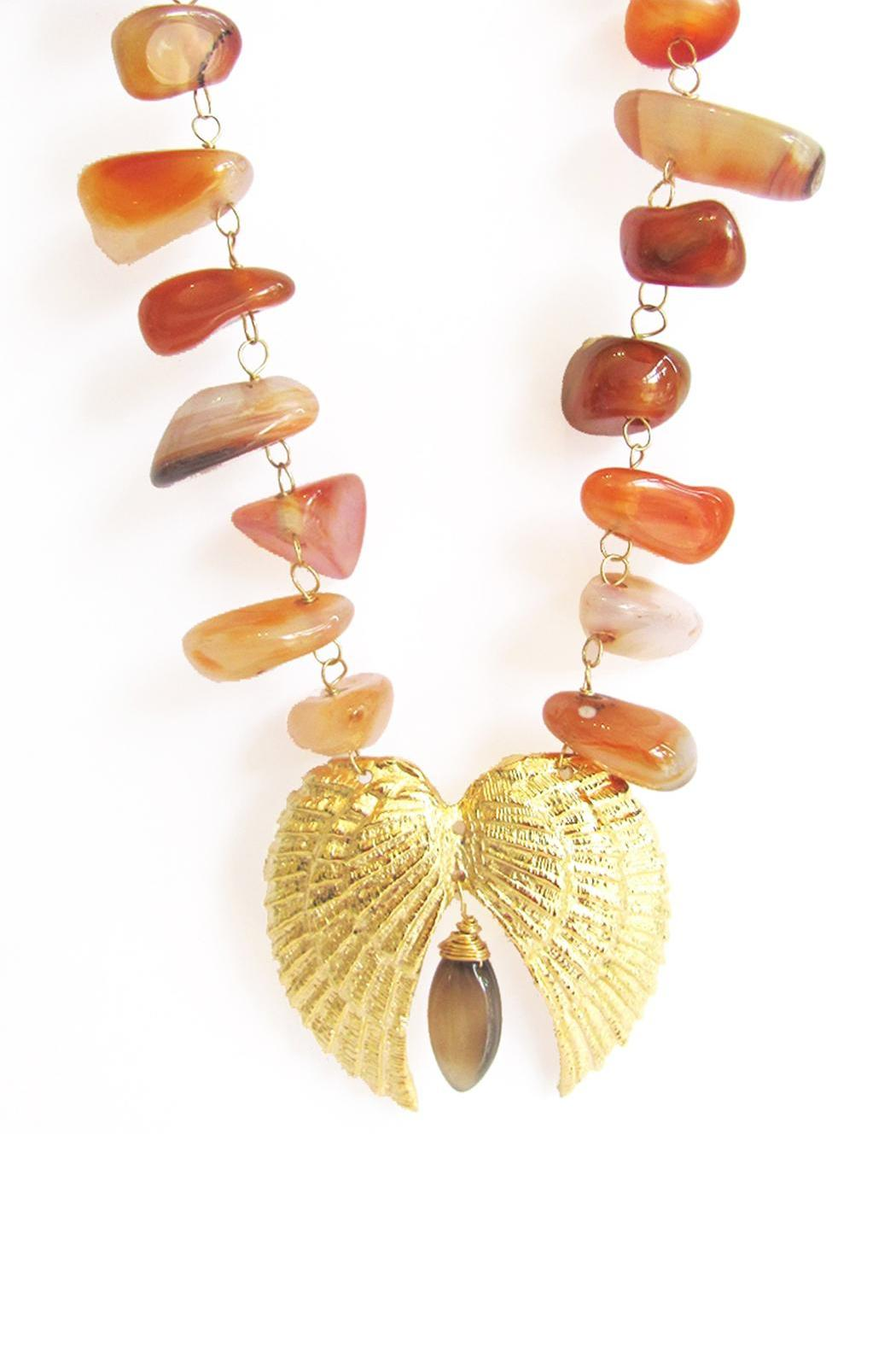 Malia Jewelry Double-Wing Cornelian Necklace - Side Cropped Image