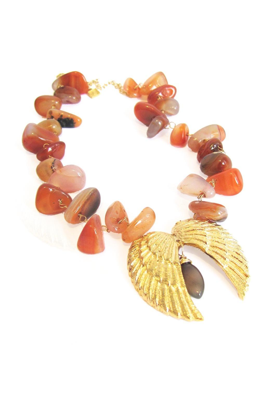 Malia Jewelry Double-Wing Cornelian Necklace - Front Full Image