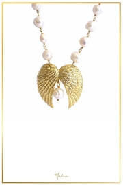 Malia Jewelry Double-Wing Pearl Necklace - Product Mini Image