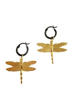 Shoptiques Product: Dragonfly Black Hoops