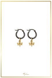 Malia Jewelry Firefly Black Hoops - Product Mini Image