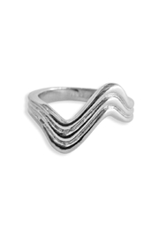 Malia Jewelry Flow Steel Ring - Front cropped