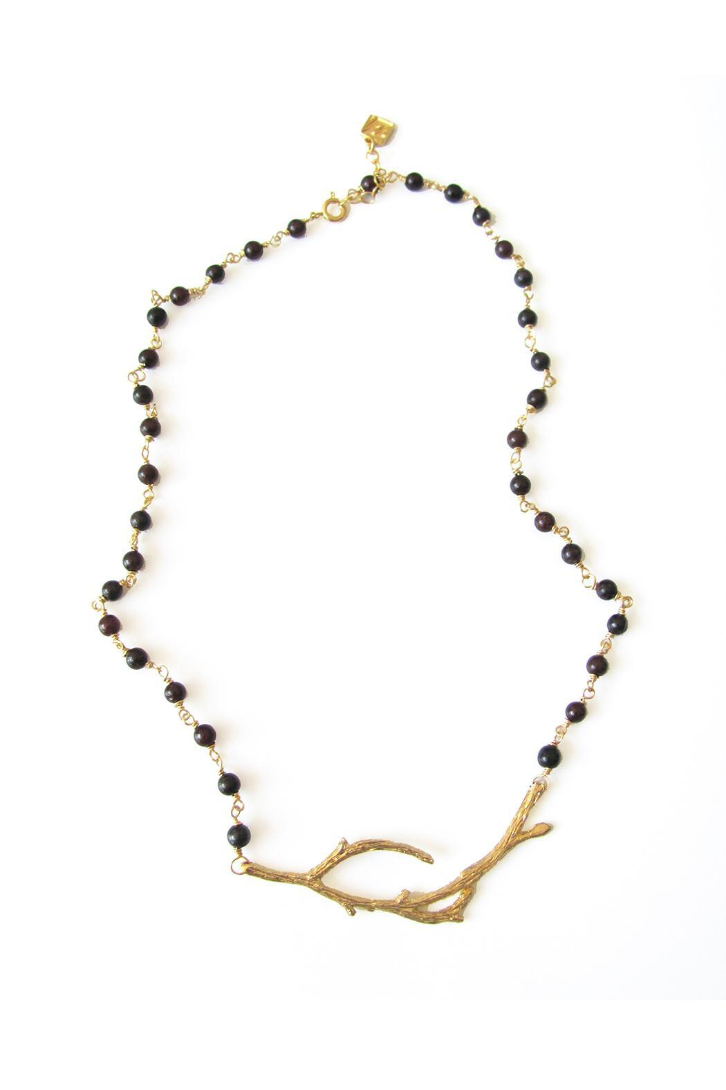Malia Jewelry Garnet Branch Necklace - Main Image