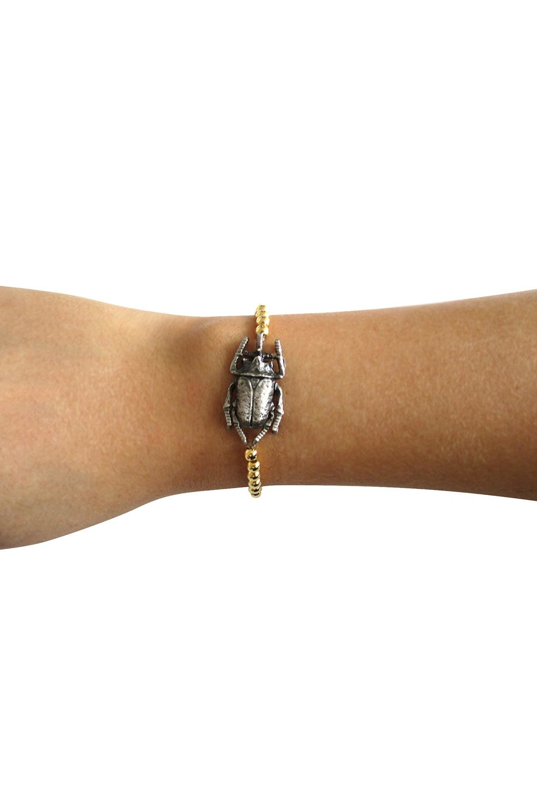 Malia Jewelry Gold Beetle Bracelet - Side Cropped Image
