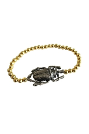 Malia Jewelry Gold Beetle Bracelet - Front full body