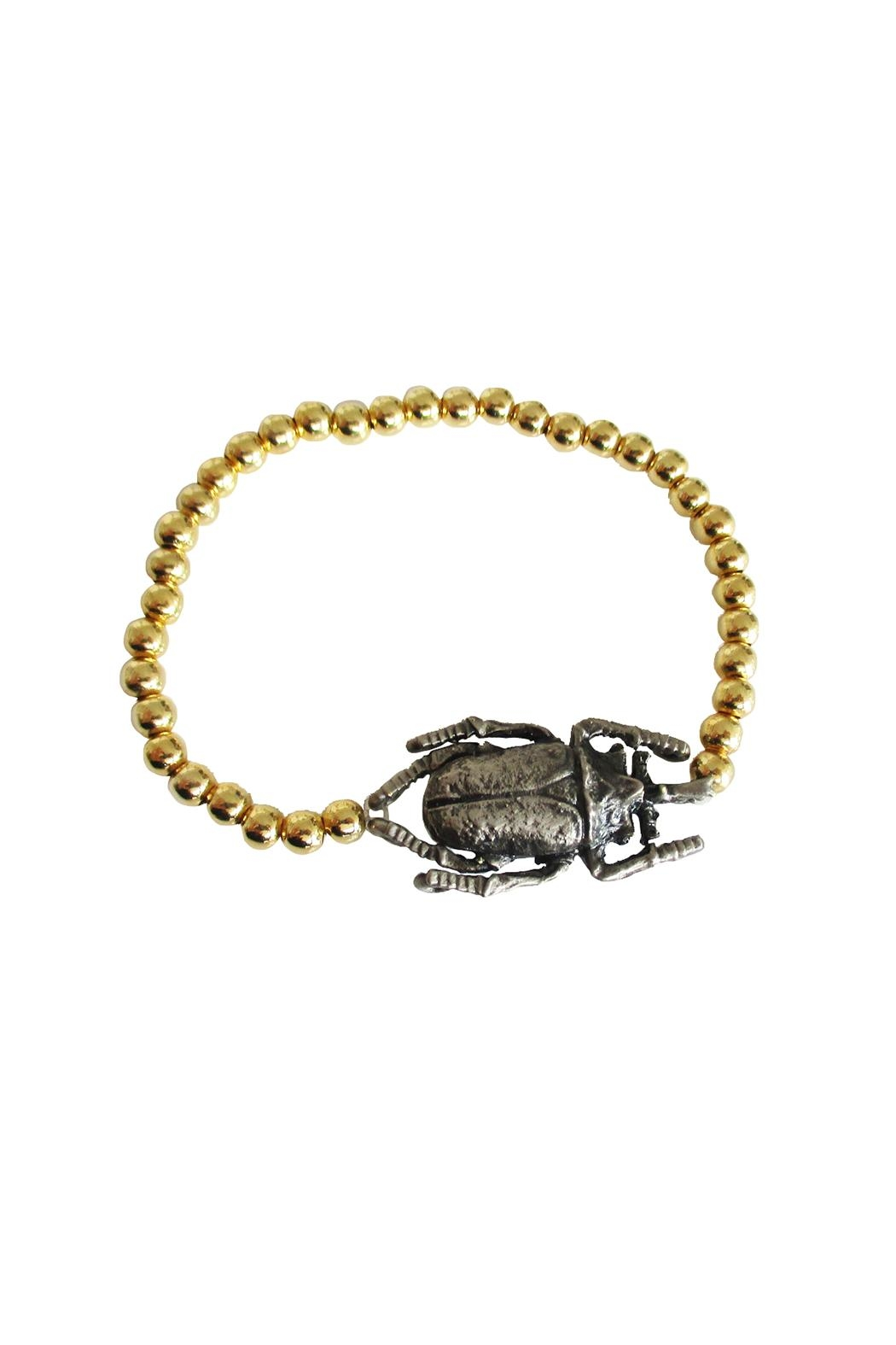 Malia Jewelry Gold Beetle Bracelet - Main Image