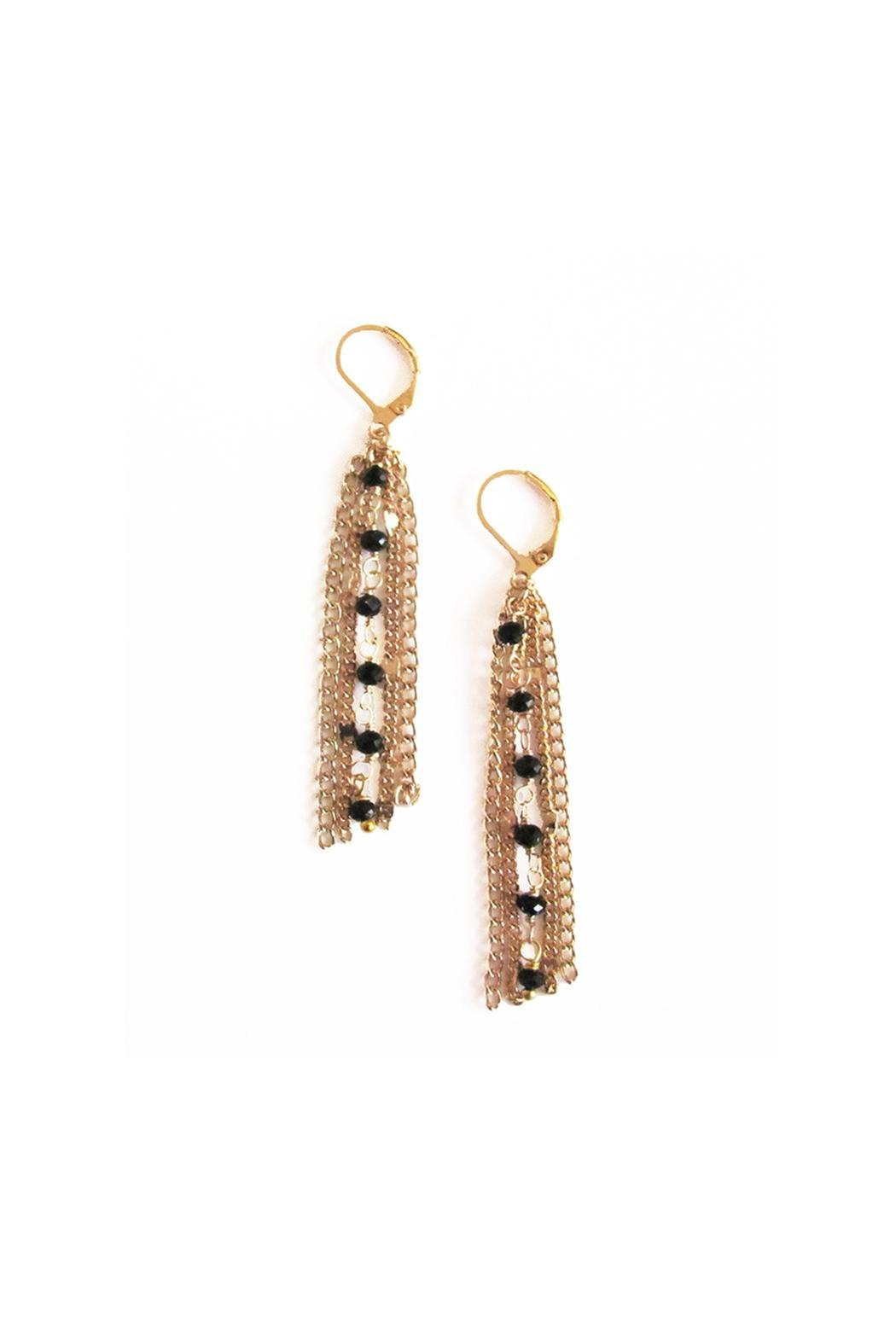 Malia Jewelry Gold Chain Earrings - Front Full Image