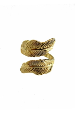Malia Jewelry Gold Double Leaf Ring - Product List Image