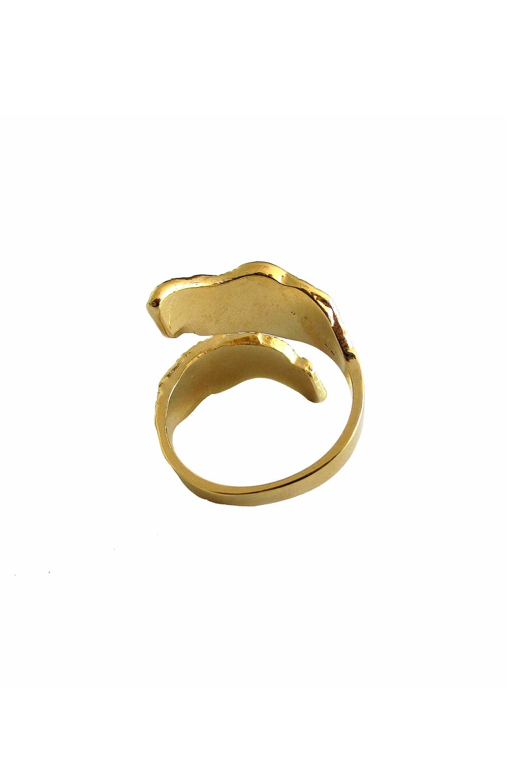 Malia Jewelry Gold Double Leaf Ring - Side Cropped Image