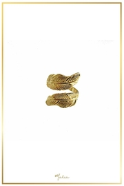 Malia Jewelry Gold Double Leaf Ring - Product Mini Image
