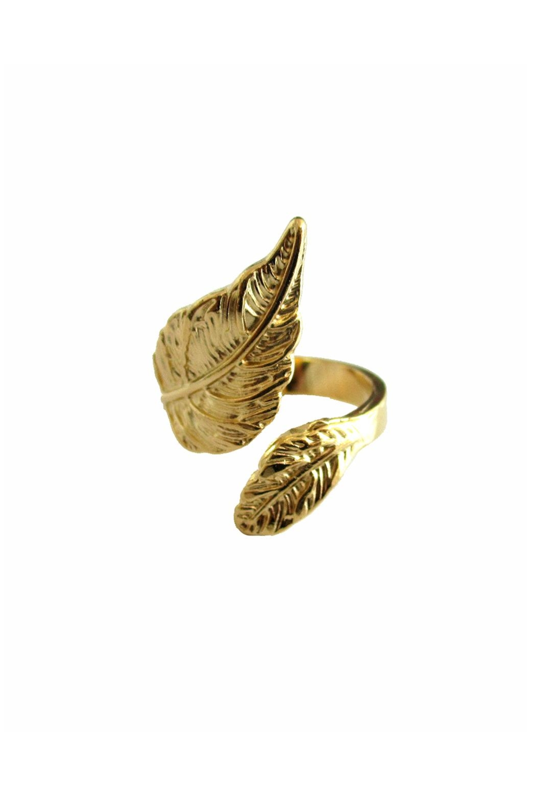 Malia Jewelry Gold Leaf Ring - Front Full Image