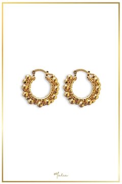 Malia Jewelry Gold-Plated Marble Hoops - Alternate List Image
