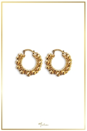 Malia Jewelry Gold-Plated Marble Hoops - Front cropped